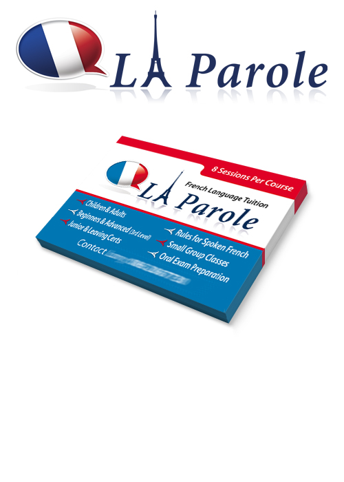 Graphic Design Business Cards La Parole