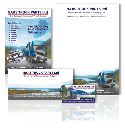 Graphic Design Stationery Print Naas Truck Parts